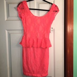 Coral dress from Charlotte Russe!